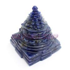 Shree Yantra in Lapis Lazuli Stone Shri Energized Meru Yantram Prosperity Vastu