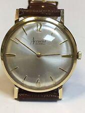 Vintage 9 Carat Gold GENTS ACCURIST 21 Jewel Wrist Watch