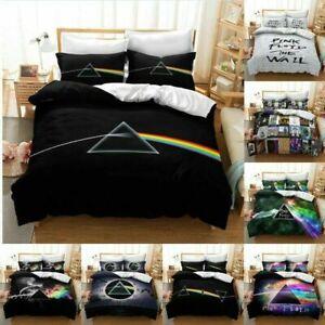 2/3PC 3D Pink Floyd Band Duvet Pattern Cover Bedding Set Pillowcase GS/GD/GK/GSK