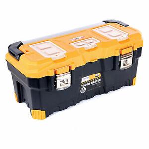 Tool Box 26'' With Tray & Compartment Organiser Aluminium Handle