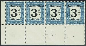 SOUTH WEST AFRICA 1927 POSTAGE DUE 3D MNH ** STRIP