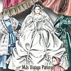 "Vtg Pattern China Head 12"" Doll ~  Lady Godey Style Dresses Wedding, Coat"