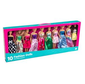 Princess Fashion Dolls 10 Pack Toy Set Barbie Doll Dresses Girls Gift Toys NEW
