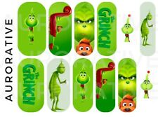Grinch Nail Decals