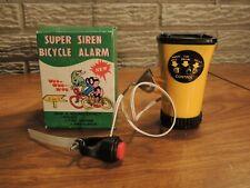 NOS Vintage SUPER SIREN BICYCLE ALARM Bike Horn 3 SOUNDS Police Fire Ambulance