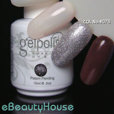 15 ml Nail Art Soak Off Glitter Color UV Gel Polish UV Lamp #076