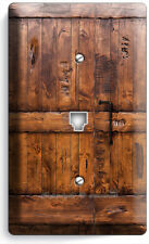 RUSTIC WOOD RANCH BARN DOOR PHONE TELEPHONE COVER PLATE ROOM CABIN ROOM HD DECOR