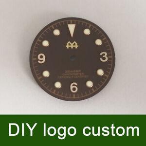 30.4mm Black/coffee DIY custom Watch Dial for ETA 2824/2836 Miyota 82 movement