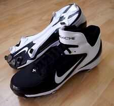 New Nike Zoom Merciless TD Mid Football lacrosse Cleats shoes, Black & White, 15