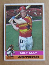 1976 TOPPS BASEBALL MILT MAY #532 AUTOGRAPHED SIGNED CARD HOUSTON ASTROS