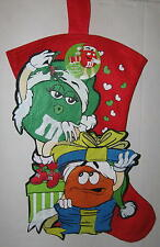 "M&M's Lovebirds ""Under the Mistletoe"" Christmas Stocking Felt 17"""