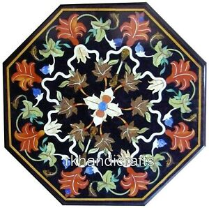Center Table Top with Pietra Dura Art Marble Exclusive Coffee Table Home Decor