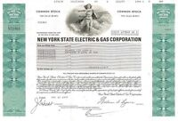 New York State Electric & Gas Corp > 1977 New York old stock certificate share