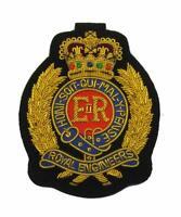Royal Engineers Blazer Badge Hand Embroidered Bullion Wire E II R Badges British