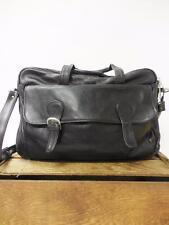 KENNETH COLE New York Black Leather Multipocket Laptop Portfolio Work Bag *CLASP