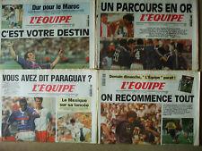 4 journaux l'equipe coupe du monde 1998 24 25 26 27  juin