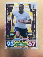Match Attax Season 17/18 Spurs #426 Victor Wanyama-MOTM