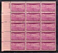 """New ListingUnited States Scott # 858 """" 50Th Ann Statehood """" 3 Cent Plate Block (15) Mint Nh"""