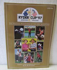 1997 RYDER CUP PROGRAM VALDERRAMA  NEVER OPENED