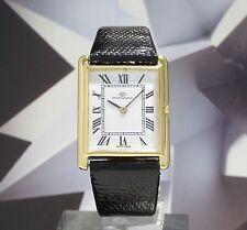 Vintage Mens Movado 18K Gold Manual Wind Wristwatch 17 Jewels One Year Warranty