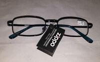 Zippo Stylish Unisex Reading Glasses Blue Frames +1,00 +3,00