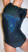 FlipFlop Leos Gymnastics Leotard,  Gymnast Leotards - TEAL MERMAID