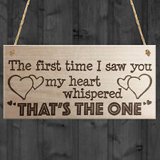 Red Ocean The First Time I Saw You Wooden Hanging Plaque Soulmate Valentine