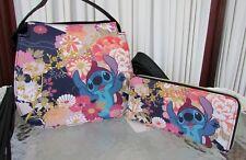 Disney Loungefly Stitch Floral Festival Handbag Crossbody Bag Wallet Set NWT