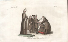 MOURNING ZURICH - MODERN & ANTIQUE COSTUME * RARE COLOUR PLATE 1828 - Verico