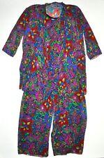 New listing Ann Hobbs Cattiva Plus Sz 18 Vintage 3 Piece Colorful Outfit Pants Blouse Jacket