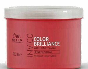 Wella Professionals Brilliance Treatment Mask Fine Normal Hair 500ml