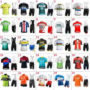 2021 Mens cycling jerseys bib shorts sets Maglia ciclismo Pantaloncini imposta