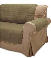 """HOME & DORM OLIVE & SAGE SLIPCOVER LOVESEAT PROTECTOR up to 75"""" Long"""