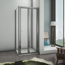 80x80cmx185cm Paroi de douche pliante avec une paroi latérale, cabine de douche