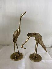 New listing 2 Vintage Brass Crane Figures - Mcm