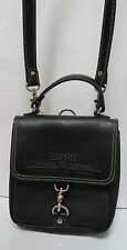 Black Leather Esprit Purse Bag Cross Body Classic Handbag Magnet close