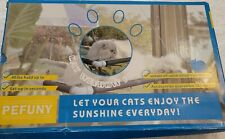 New listing Pefuny Cat Window Perch/Hammock Window Seat/Space Saving Window Mounted Bed New