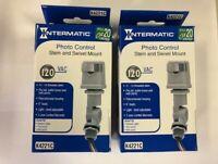 2 Pack  Intermatic K4221C 120-Volt Stem & Swivel Mount Thermal Photocontrol,Gray