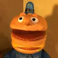 McDonald's Vintage Big Mac police Mascot Hand puppet 1973 Retro Antique Rare O8