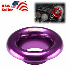 "4"" Purple Short Ram Cold Air Intake Turbo Horn Aluminum Velocity Stack Adapter"