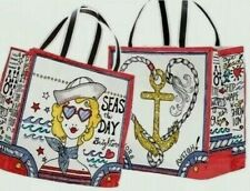 NWT Brighton SEAS THE DAY CanvasTote Bag Limited Edition Nautical Beach MSRP$100