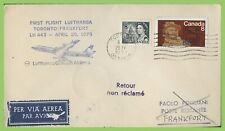 Canada 1973 Lufthansa Flight LH443 cover Toronto to Frankfurt, Germany