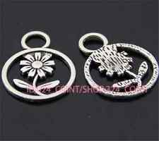 P375 15pc Tibetan Silver sunflower Charm Beads Pendant accessories wholesale