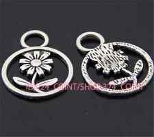 P375B 50pc Tibetan Silver sunflower Charm Beads Pendant accessories wholesale