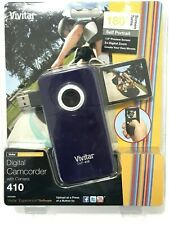 Vivitar DVR-410 Flash Media Digital Camcorder with Camera Purple NIB NEW!