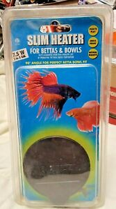 HYDOR USA SLIM HEATER FOR BETTA BOWLS, 5W, FITS PERFECT IN A 90% ANGLE, NEW!