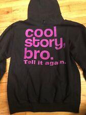 Womans Cool Story, Bro. Tell it again. Small Black Hoodie Sweatshirt