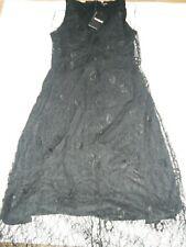 Desigual lace Evening black dress size XL RRP £99 uk seller