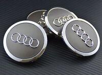 4x69mm Silver AUDI ALU NEW Wheel Center Hub Cap Emblem Badge Logo 4T0601170A