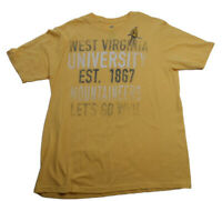 NCAA West Virginia University WVU Tshirt M by KA Old Gold Color